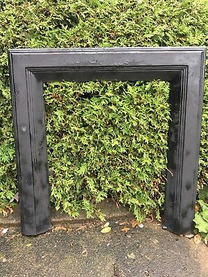 Large Victorian Cast Iron Fireplace Grate Antique Architecture Garden #5