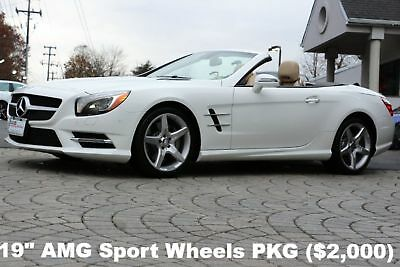 """2015 Mercedes-Benz SL-Class SL550 Roadster 2015 SL550 Roadster 19"""" AMG Sport Wheels Panorama Roof ONLY 5,443 Miles White"""