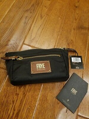Frye Ivy Cosmetic Pouch (Black Nylon) Travel Pouch NWT $48
