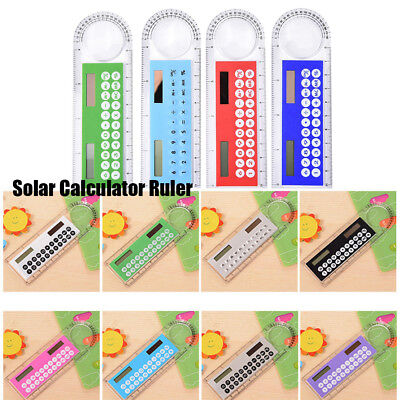 Energy Counters Solar Mini Calculator Ultra-thin Rulers Ruler Calculaders