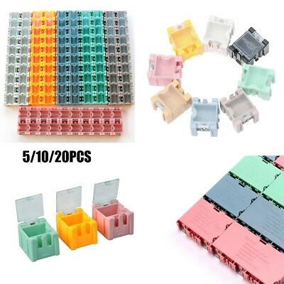 20pcs 1# SMD SMT Electronic Capacitor Yellow Box Components Storage Cases K6