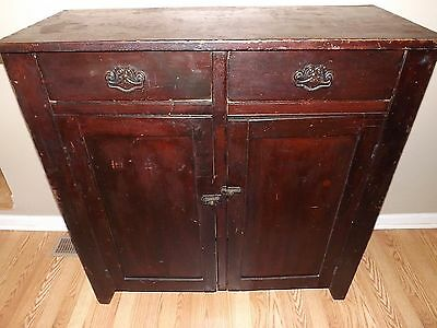 1810 American Jam Cupboard-Hand Dovetailed Cabinet-Rosehead Nails-Square Pegged