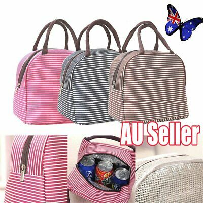 Cool Bag School Office Picnic Insulated Thermal Cooler Carry Tote Lunch Box JW