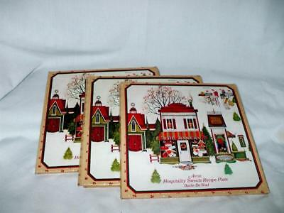 Avon Hospitality Sweets Recipe Tin Plates, Set Of 3, Made In England, Nos