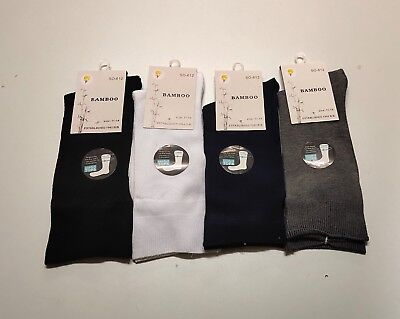 6 Pairs Mens Loose Top Bamboo Socks Foot Sport Socks Extra Large11-14
