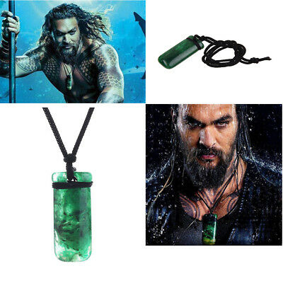 Movie Aquaman Maori Jade Toki Pendant Necklace Hand Carved Prop Cosplay Gift New
