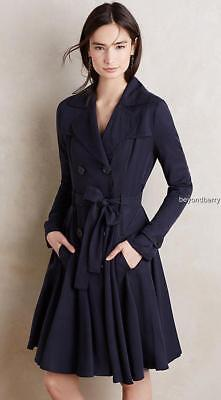 NEW Anthropologie Fayette Trench by dRa  Size L
