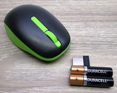new SVEN black with green cordless wireless USB scroll computer MOUSE souris