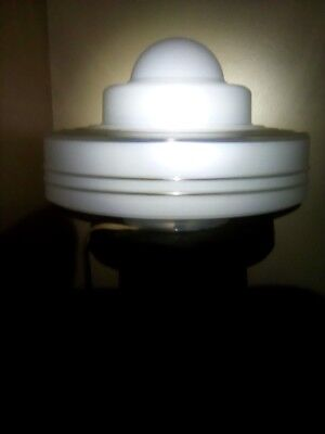 Art Deco Machine Age 1930 Saturn Lamp w/black & gray Pedestal