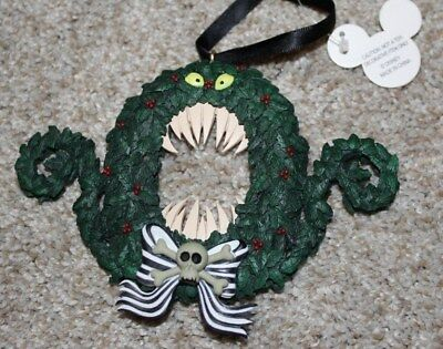 DISNEY Parks NIGHTMARE BEFORE CHRISTMAS Man Eating Wreath Ornament NWT