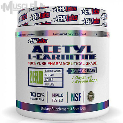 EHPlabs Acetyl L-Carnitine - 100 Serves UNFLAVOURED - EHP Labs ALCAR