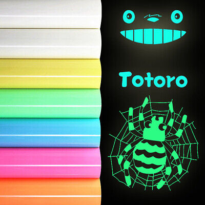 Glow In the Dark Fluorescence Iron-on Vinyl Heat Press Transfer T-Shirt Film