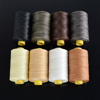 Black/White/Brown/Gray/Beige/Army Green 100m Flat Waxed Leather Sewing Thread