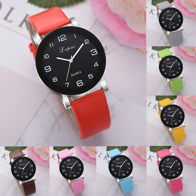 Women's Casual Quartz Analog Leather Band Hook Buckle Watch Round Wrist Watch