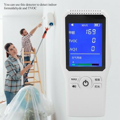 Formaldehyde Detector Indoor Home Air Quality Tester HCHO Meter TVOC AQI Monitor