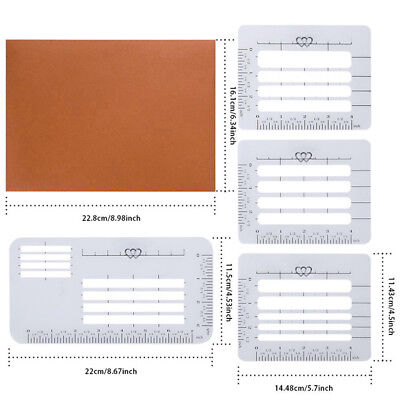 4x/ pack Lettering Envelope Addressing Stencil Template Ruler Guide For Straigh