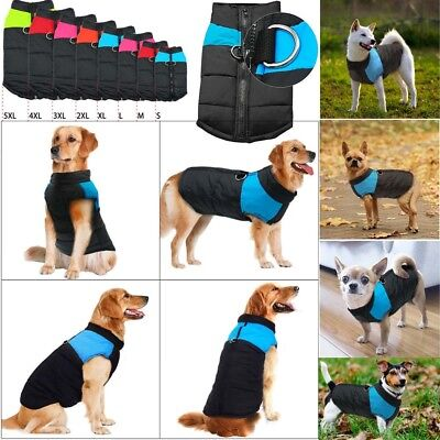 S-5XL Waterproof Pet Dog Clothes Autumn Winter Ski Warm Padded Coat Vest Jacket