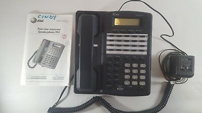 ATT MODEL 954 4 LINE Business Phone Telephone With Power Supply Manual Cord