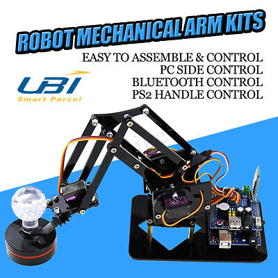 4DOF Mechanical Robot Arm Claw With Servos For Robotics Arduino DIY Kit Gift