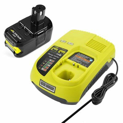 3A 12V 14.4V 18V For Ryobi P117 Rechargeable Battery Charger Battery Pack P A2Q8