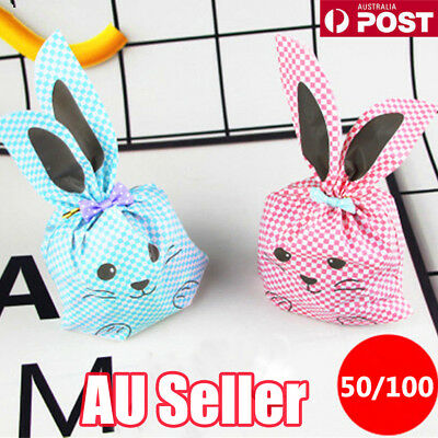 100pcs Cute Rabbit Bakery Cookie Gift Candy BAGS Wedding Easter Party Favors  LG