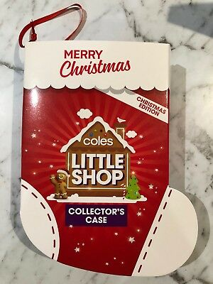 Coles Little Shop Christmas Edition Collector's Case Mini Collectable CASE ONLY
