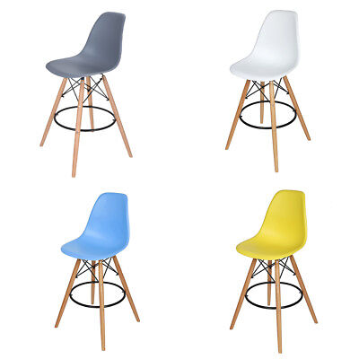 Vintage Bar Stool Breakfast Kitchen Bistro Cafe Wood Dining Chairs Eiffel Style