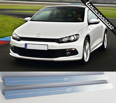 VW Scirocco GT (Released 2008). Stainless Steel Sill Protectors / Kick Plates
