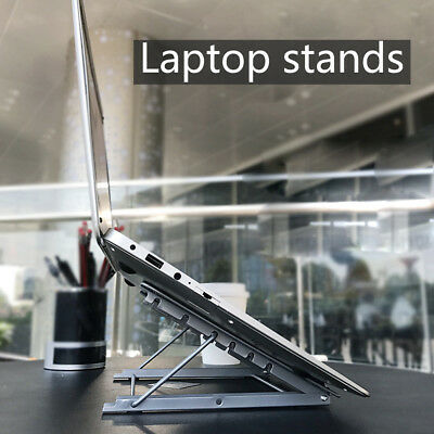 Laptop Cooling Stand Tray Holder Desk Table for Bed Sofa Foldable Metal AU