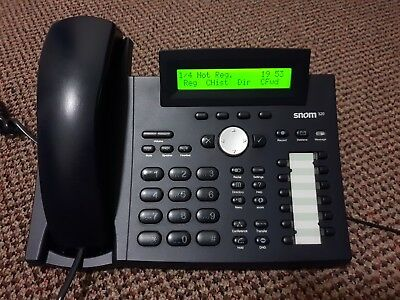 Snom 320 SIP VoIP Business Telephone Handset PoE + AU Power Supply