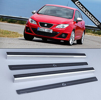 Seat Ibiza FR (2008 - Early 2017) 2 Door Stainless Sill Protectors / Kick Plates
