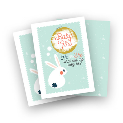 10 Gender Reveal Scratch Card Idea. Baby boy and girl suprise. Baby Shower Game