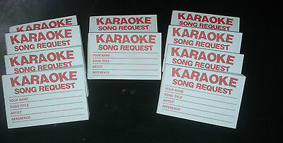 10 PADS x 100s  =(1000x) Karaoke request slips - Red FREE 1st class posting