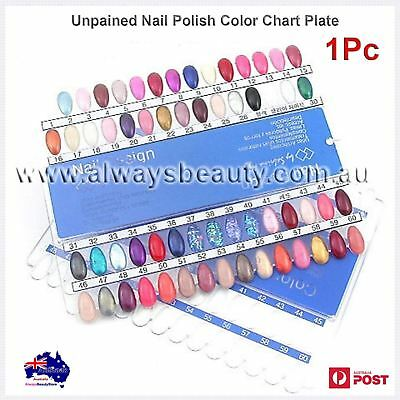Unpainted Nail Polish Colour Chart 60 grids Display Chart Nail Supply OZ Sale