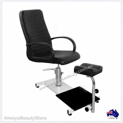 Black Pedicure Foot Spa Chair  Hydraulic Spa Station With Stool New