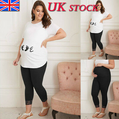 Maternity Pregnancy Women Thermal Warm Winter Casual Legging Pants Size 12-20
