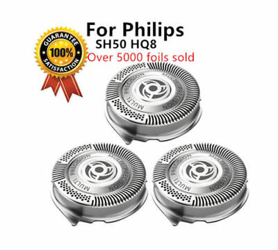 3 x Shaver Head Blades Compatible with Philips 5000 Series SH50/51/52 UK Stock