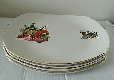SET OF 4 HARRY HANCOCK DINNER PLATES  1960s/70s LOVELY CONDITION & COLLECTABLE