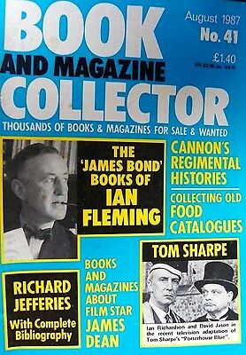 BOOK AND MAGAZINE COLLECTOR No 41 AUGUST 1987 FLEMING 007  - TOM SHARPE -   ETC