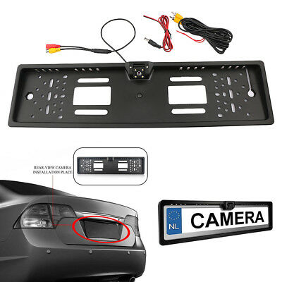 170° Car Rear View HD Camera Back Up Parking Plate Night Vision LED For Euro Car