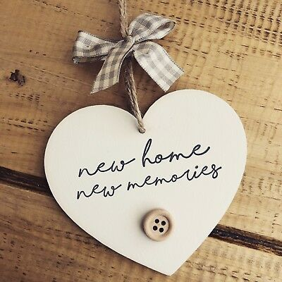 New Home Gift First Housewarming Plaque Sign Moving Present Memories Decor House