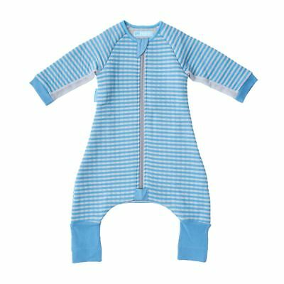 The Gro Company Groromper Cosy Blue Stripe - Playsuit & Sleepsuit - 12-24 Months