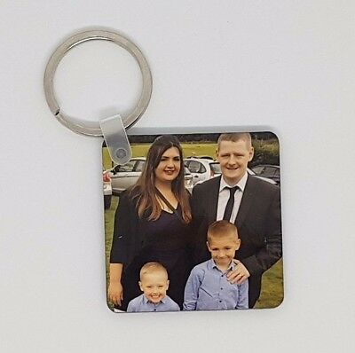 Personalised Photo Key Ring Any Photo or text Perfect gift for Mum dad partner