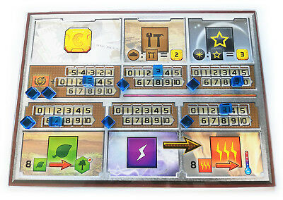 5pcs player board overlays for Terraforming Mars  - polycarbonate, flexible