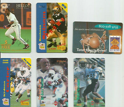 5 Sports Phone Cards
