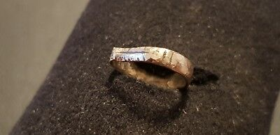 Exquisite very rare Viking bronze snake ring. Please read description. L123c