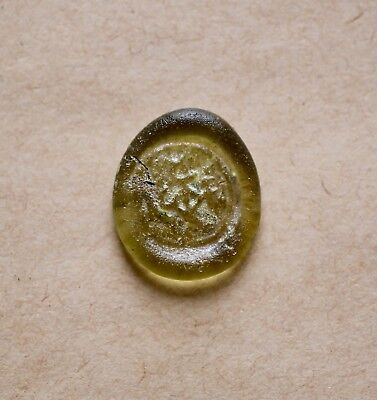 BYZANTINE GLASS WEIGHT WITH MONOGRAM OF NEOPHYTOS ILLOUSTRIOS (ca 6th/7th cent.)