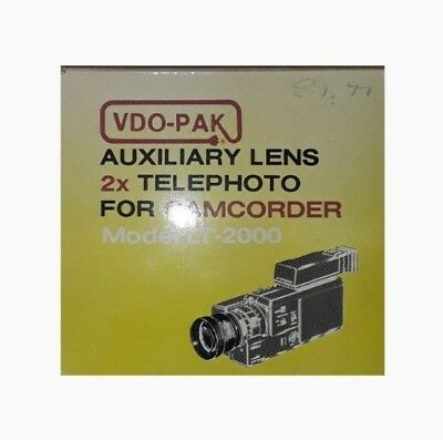 VDO-PAK Auxiliary Lens   2x Telephoto for Camcorder (New!)