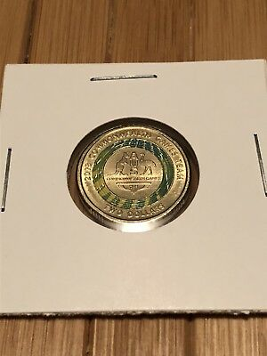 2018 $2 Two Dollar Green Commonwealth Games Coin