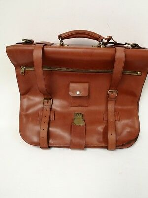 Vintage Foster&Son luxury handmade solid leather belted suit carrier.